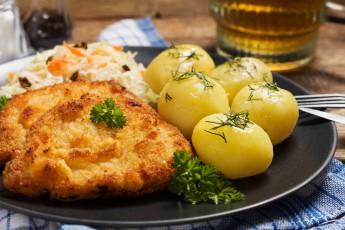 Bravčový rezeň v zemiakovom cestíčku
