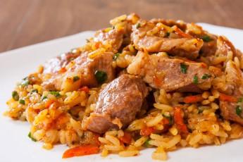 Rizoto s bravčovým mäsom
