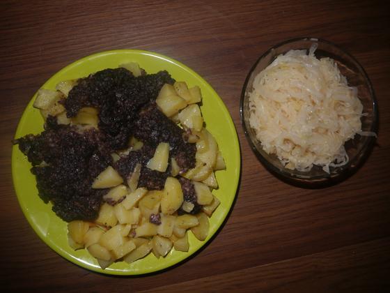 Jaternicová kaša so zemiakmi