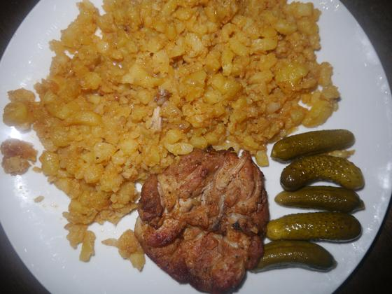 Kuracie mäso s haluškami