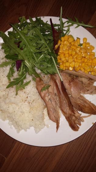 Morčacie mäso s ryžou